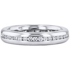 H & H 0.64 Carat Round Brilliant Cut Diamond Eternity Band