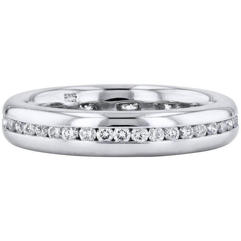 H & H 0.64 Carat Round Brilliant Cut Diamond Eternity Band