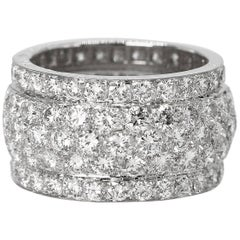 "Cartier Diamond and White Gold ""Nigeria"" Band Ring"