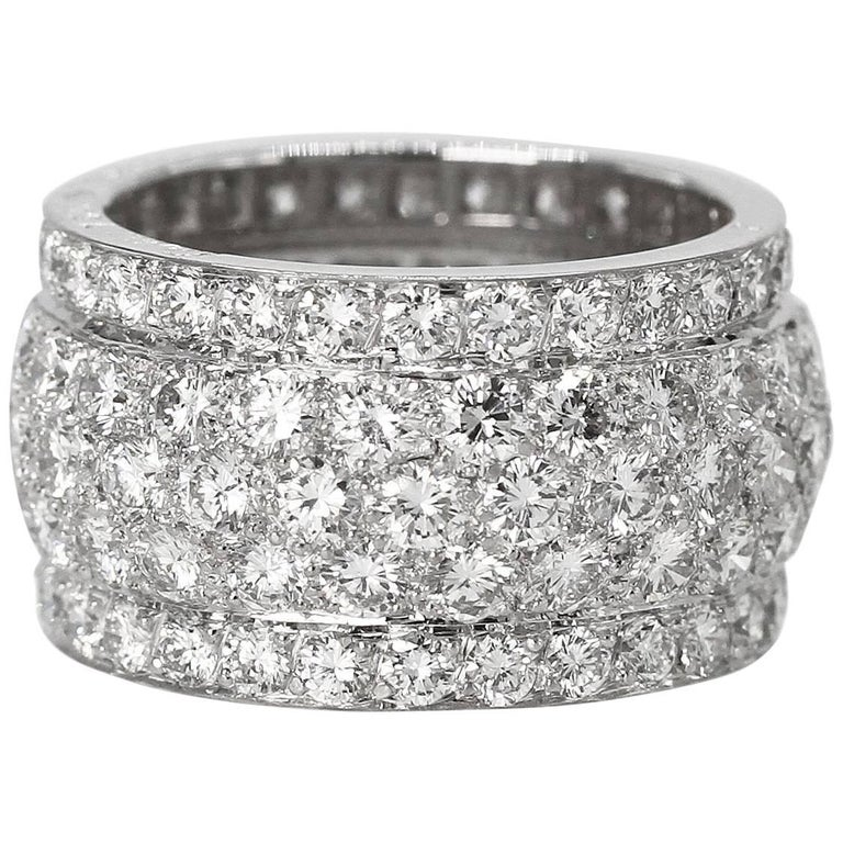 """Cartier Diamond and White Gold """"Nigeria"""" Band Ring 1"""