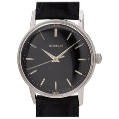 Gubelin Stainless Steel Black Original Dial automatic wristwatch, circa 1960s