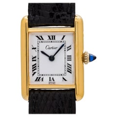 Cartier Ladies gold plated Tank Louis manual wind wristwatch, circa 1970s