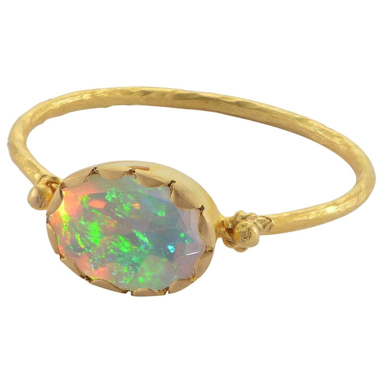 Emma Chapman Yellow Gold Opal Ring