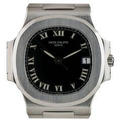 Patek Philippe Nautilus Medium Gents Steel Black Dial 3800/1 Automatic Watch