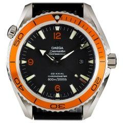 Planet Co-Axial Ocean Seamaster Steel Black Dial Orange Bezel Automatic Watch