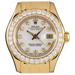 Rolex Ladies Yellow Gold Diamond Pearlmaster Datejust automatic wristwatch