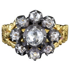 Antique Georgian 18 Carat Gold Diamond Cluster Ring, circa 1780