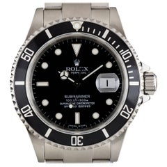 Rolex Submariner Date Gents Steel Black Dial 16610 Automatic Wristwatch