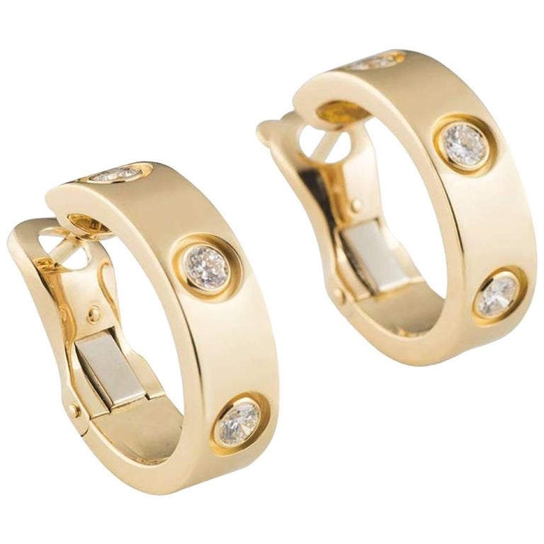 Cartier Diamond Love Hoop Earrings