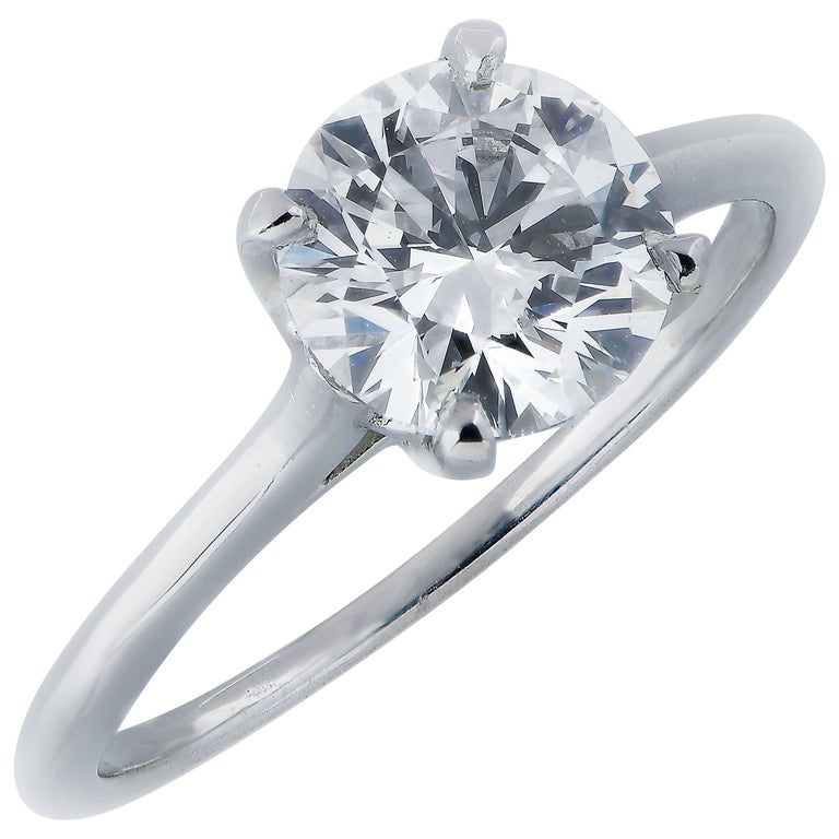 Cartier GIA Certified 1.60 Carat Round Diamond Engagement Ring For Sale