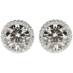 3.70 Carat Total Weight Studs