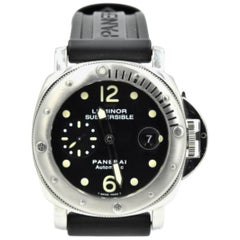 Panerai Stainless Steel Submersible automatic Wristwatch Ref PAM024