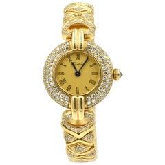 Cartier Yellow Gold Rivoli Colisee quartz Wristwatch Ref 0533