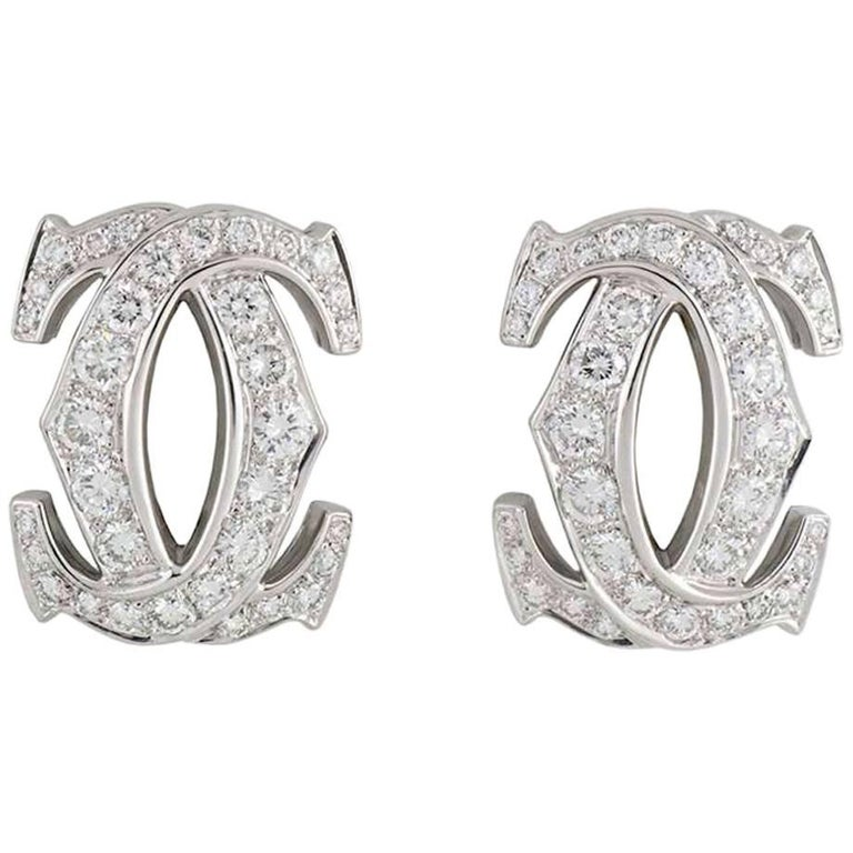 Cartier C de Cartier Diamond Earrings