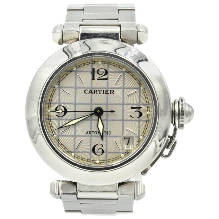Cartier Ladies Stainless Steel Pasha automatic Wristwatch