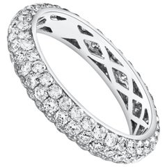 Diamond and Gold 3D Eternity Wedding Band