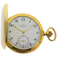 Lange and Söhne Yellow Gold Glashütte Hunter's Case Pocket Watch