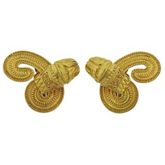 Lalaounis Greece Chimera Gold Earrings