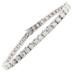 11 Carat Tennis Bracelet Diamond White Gold
