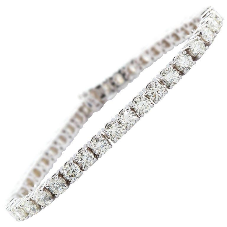 11 Carat Tennis Bracelet Diamond White Gold For