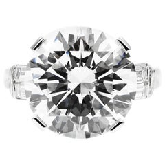 GIA Certified 7.10 Carat Triple X HVS1 Round Brilliant Cut Diamond Platinum Ring