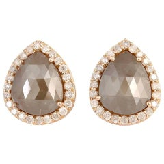 Pretty Pear Shape Ice Diamond Studs