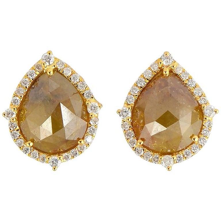 Pear Shape Ice Diamond Stud