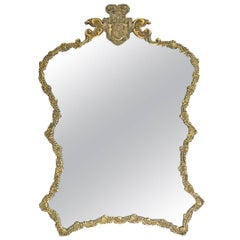 Antique Polish Malcz Silvergilt Table Mirror for Count Ivan Paskevich-Erivanskii