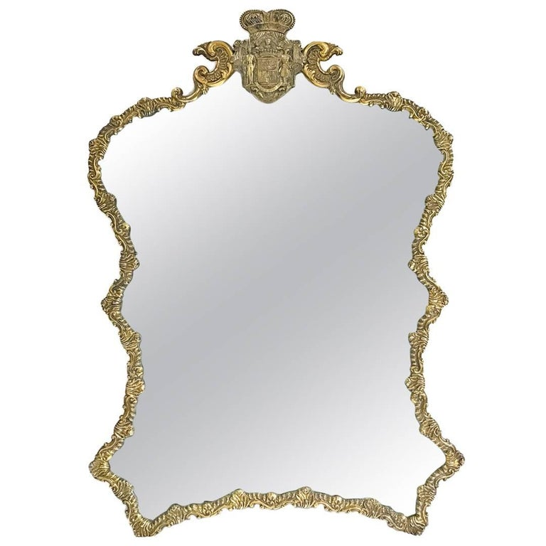 Antique Polish Malcz Silvergilt Table Mirror for Count Ivan Paskevich-Erivanskii For Sale