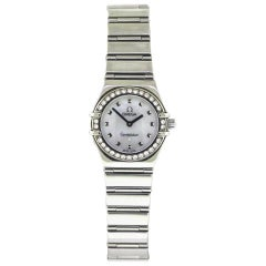 Omega Ladies Stainless Steel Cindy Crawford Constellation Wristwatch