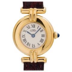 Cartier ladies Vermeil Must de Colisee Quartz wristwatch, circa 1990s