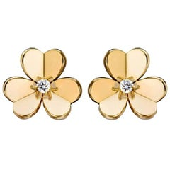 Van Cleef & Arpels Yellow Gold Frivole Small Model Earrings