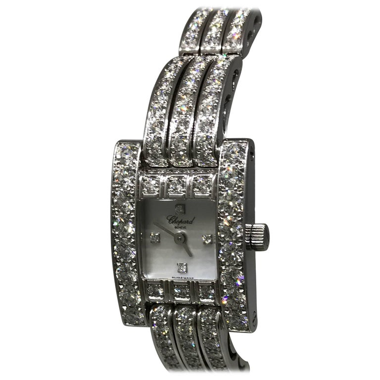 Chopard H Watch Ladies Full Diamond Case and Bracelet