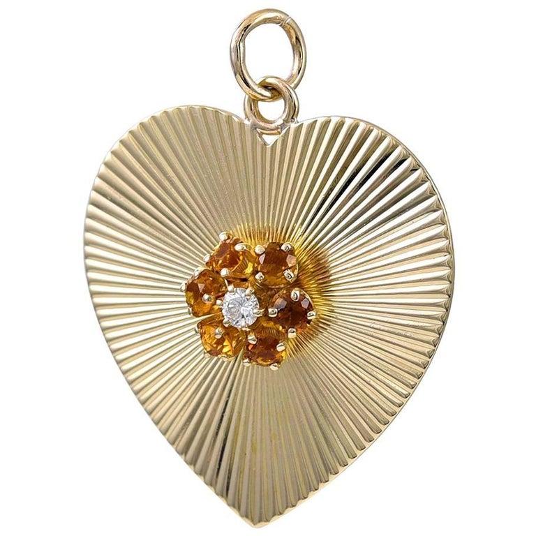Tiffany & Co. Gemset Gold Pendant/Charm