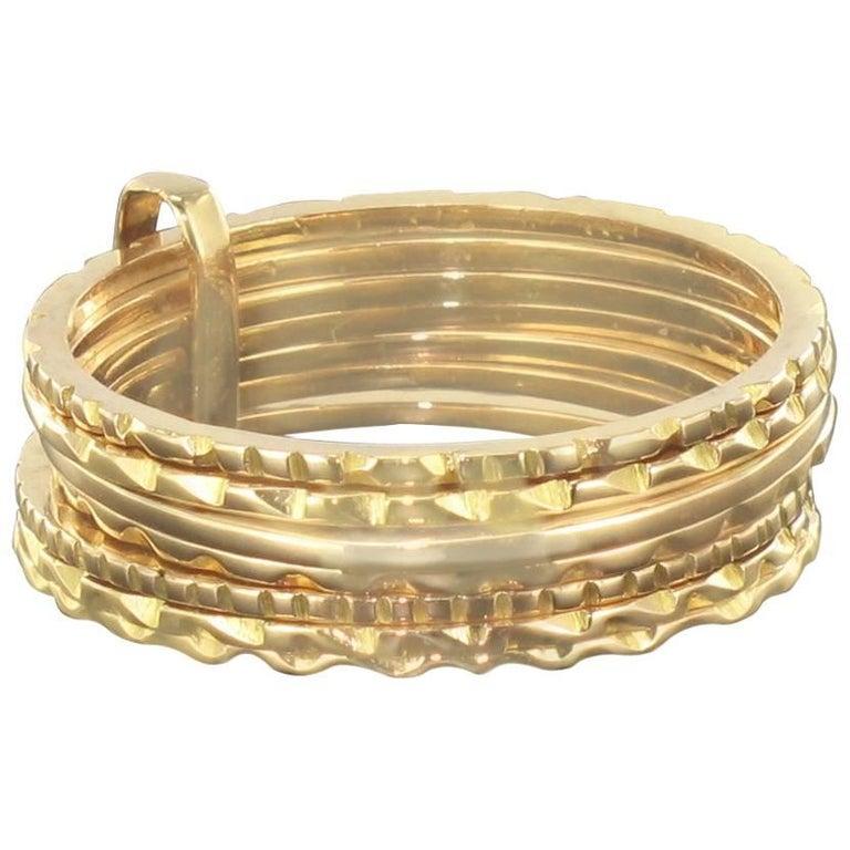 """1900s """"Semainier"""" 18 Karat Gold Ring"""