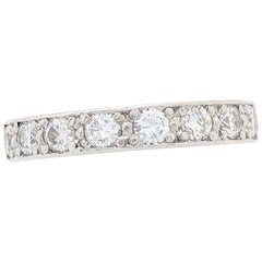 Ladies Platinum 1.70 Carat Round Diamond Eternity Wedding Band SI1/G