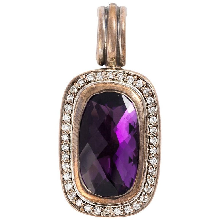 David Yurman Amethyst Pendant