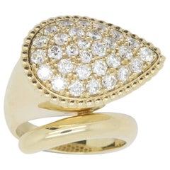 1.92 Carat Pavé Diamond Pear Wrap Ring