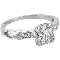 .70 Carat Diamond Antique Engagement Ring Platinum