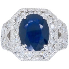 Diamond Sapphire Cocktail Ring