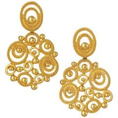 Carolyn Tyler Dune Chandelier Gold Earrings