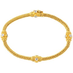 Hollow chain bracelet 18 karat yellow gold at 1stdibs for Carolyn tyler jewelry collection