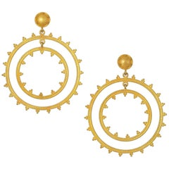 Carolyn Tyler Dream Weaver Yellow Gold Earrings