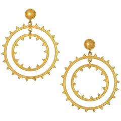Carolyn Tyler Dream Weaver Gold Earrings