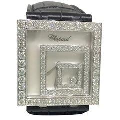 Chopard Ladies White Gold Happy Spirit Square Wristwatch Ref 20/7196