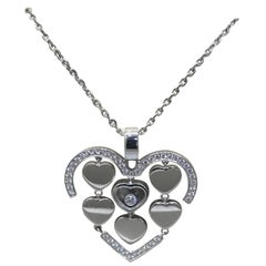 Chopard Amore Hearts 18 Karat White Gold and Diamond Pendant / Necklace 79/7219
