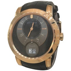 Harry Winston Rose Gold Midnight Big Date Automatic Wristwatch