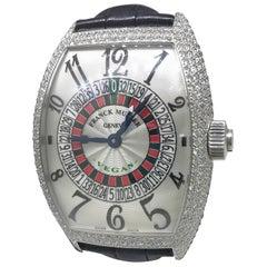 Franck Muller Stainless Steel Diamond Casablanca XXL Automatic Wristwatch