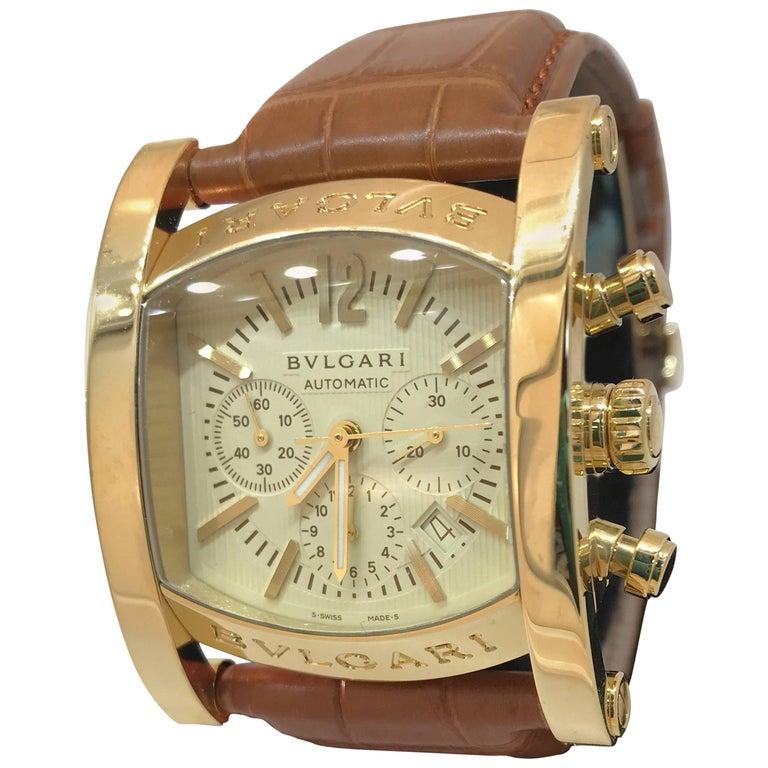 Bulgari Yellow Gold Assioma Chronograph Automatic Wristwatch