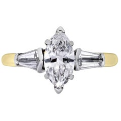 Graff 1.11 Carat Marquise Cut Diamond Engagement Ring